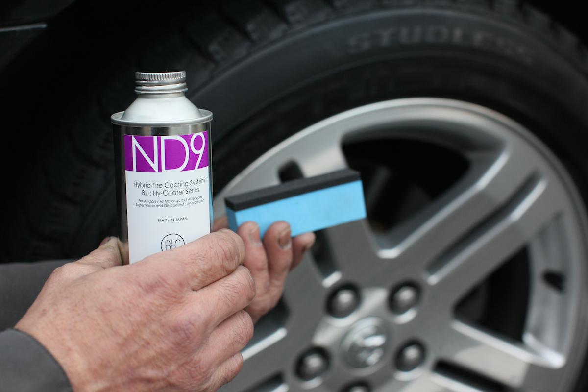 画像2: 本物、且つ究極のタイヤコート : ND9 タイヤ、及びゴム製品に高度な変形追従性を有し、優れた密着性を示すまさに夢のハイブリット塗料 : ND9。塗膜が硬化した後は、タイヤ表面にゴム本来の自然.... www.so-bad-review.com